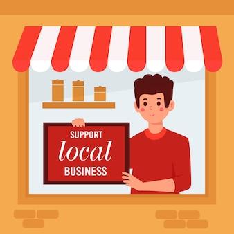 Szablon strony docelowej dla małych firm