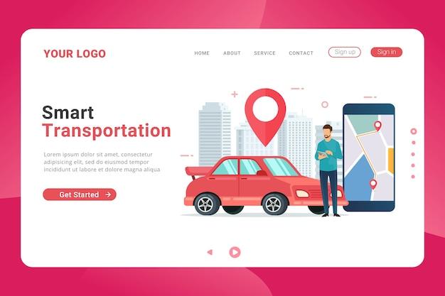 Szablon strony docelowej do rezerwacji transportu samochodowego online