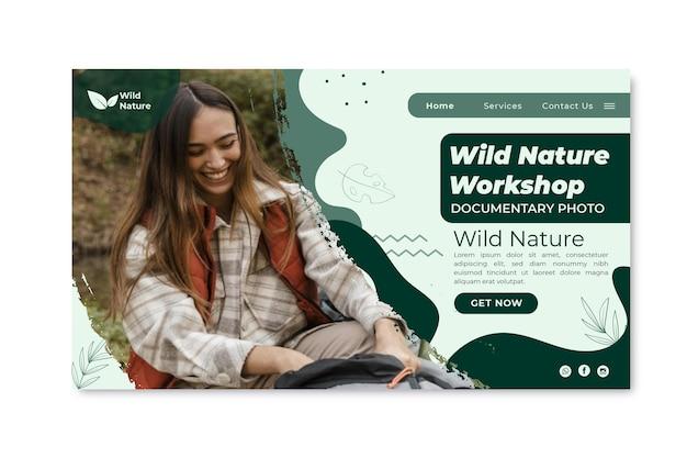 Szablon strony docelowej dzikiej przyrody