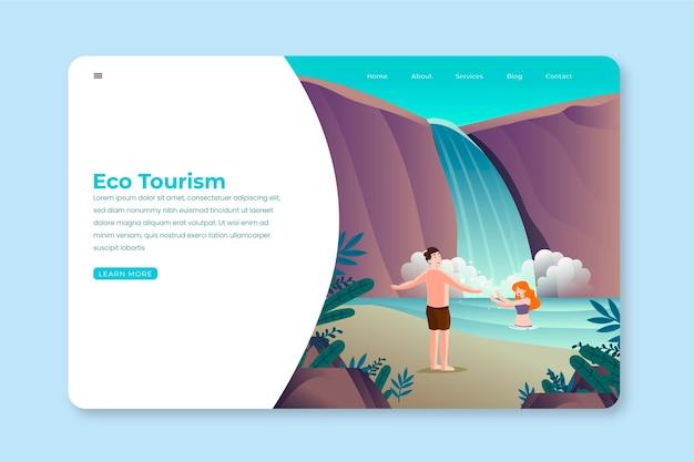 Szablon strony docelowej eko turystyki