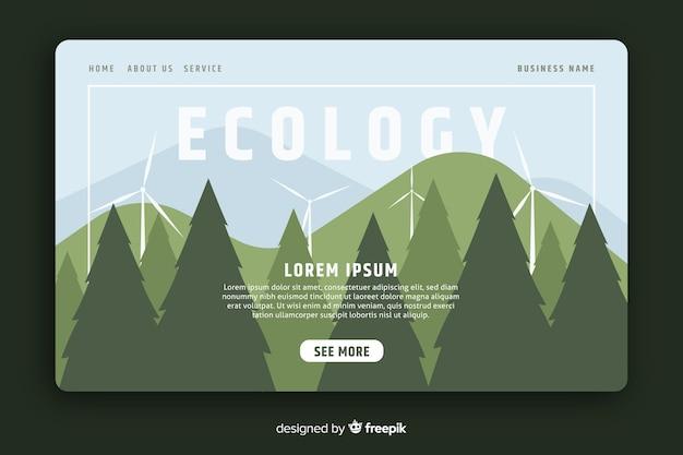 Szablon strony docelowej ekologii