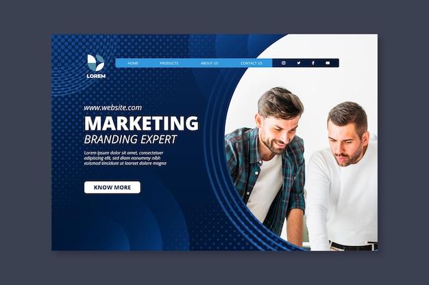 Szablon strony docelowej firmy marketingowej