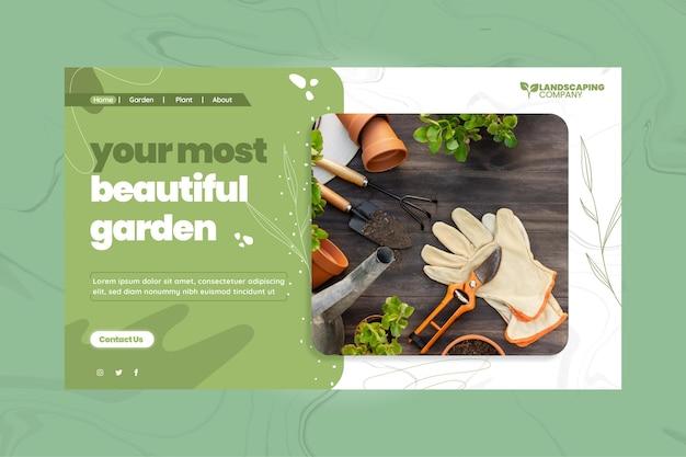 Szablon strony docelowej firmy ogrodniczej
