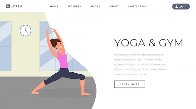 Szablon strony docelowej jogi
