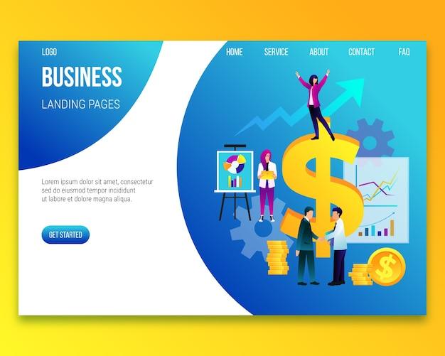 Szablon strony docelowej koncepcji biznesowych