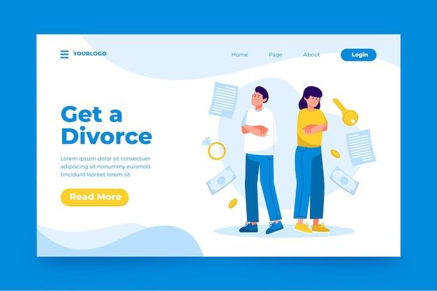 Szablon strony docelowej koncepcji rozwodu