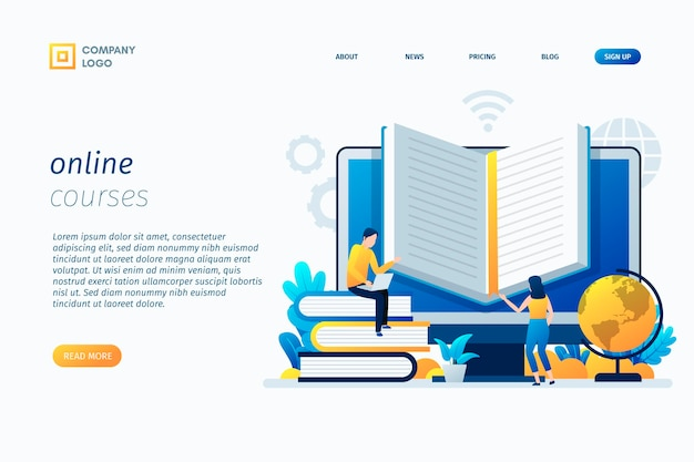 Szablon strony docelowej kursów online
