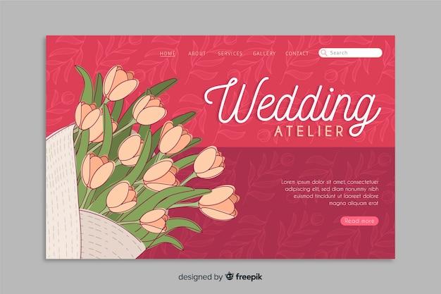 Szablon strony docelowej kwiatowy ślub