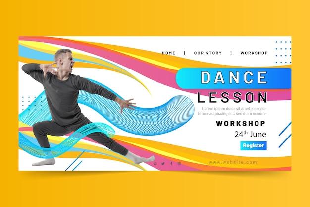 Szablon strony docelowej lekcji tańca
