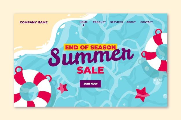 Szablon strony docelowej letniej sprzedaży na koniec sezonu