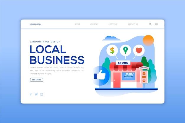 Szablon strony docelowej lokalnej firmy