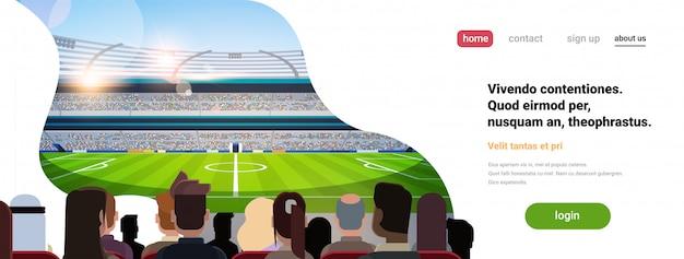 Szablon strony docelowej lub strony internetowej z ilustracją piłki nożnej, motyw sportowy
