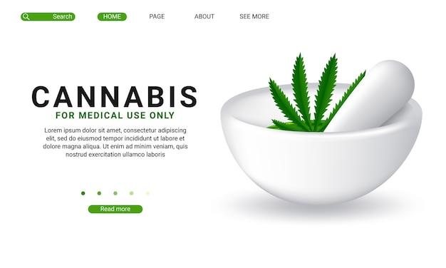 Szablon strony docelowej marihuany medycznej