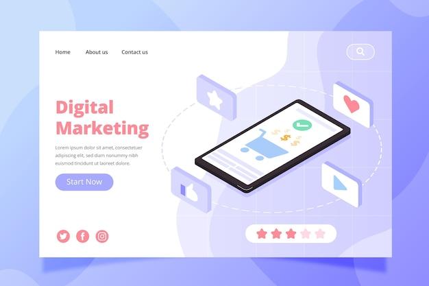 Szablon strony docelowej marketingu cyfrowego