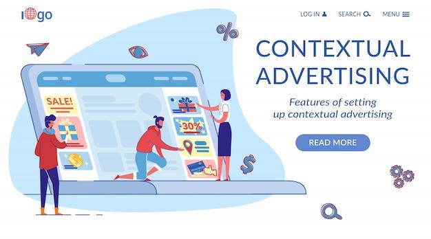 Szablon strony docelowej marketingu kontekstowego