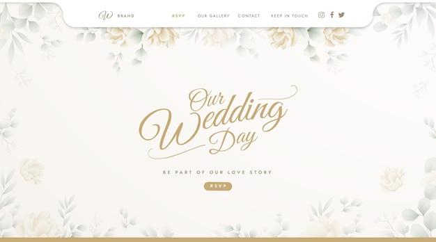 Szablon strony docelowej na wesele
