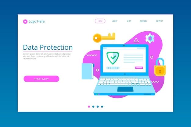 Szablon strony docelowej ochrony danych