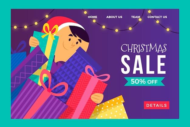 Szablon strony docelowej oferty świątecznej