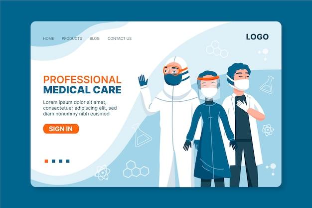 Szablon strony docelowej opieki zdrowotnej
