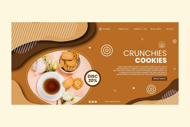 Szablon strony docelowej plików cookie