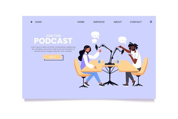 Szablon strony docelowej podcastu