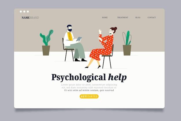 Szablon strony docelowej pomocy psychologicznej