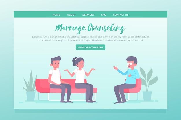 Szablon strony docelowej poradnictwa małżeńskiego