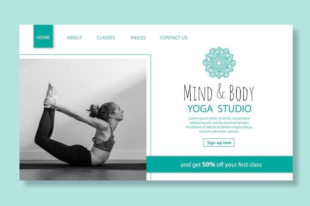 Szablon strony docelowej praktyki jogi
