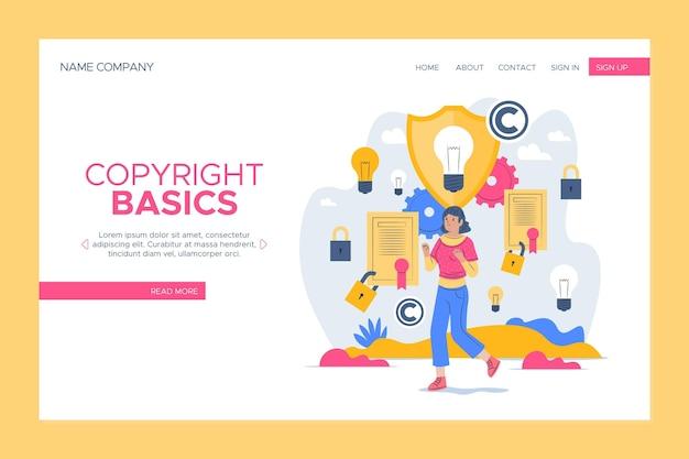 Szablon strony docelowej praw autorskich
