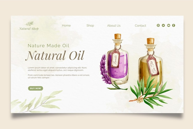 Szablon strony docelowej produktów kosmetycznych