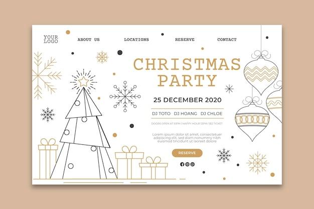 Szablon strony docelowej przyjęcia bożonarodzeniowego