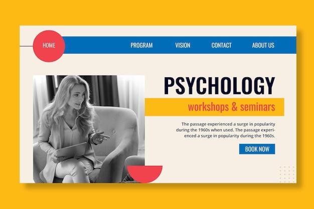 Szablon Strony Docelowej Psychologii Darmowych Wektorów