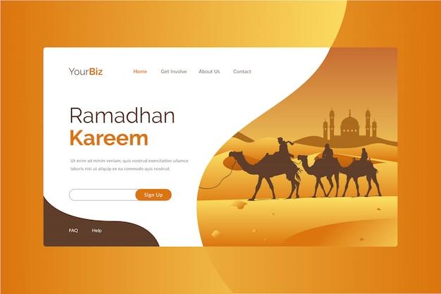Szablon strony docelowej ramadhan kareem