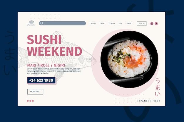 Szablon strony docelowej restauracji japońskiej