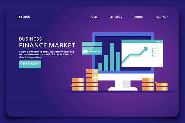 Szablon strony docelowej rynku finansowego