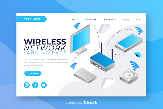 Szablon strony docelowej sieci bezprzewodowej