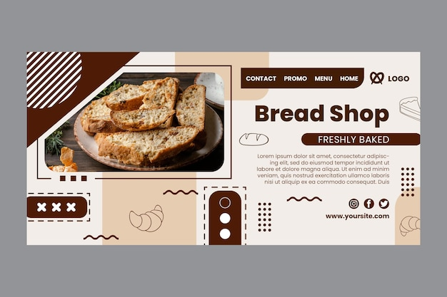 Szablon strony docelowej sklepu z chlebem