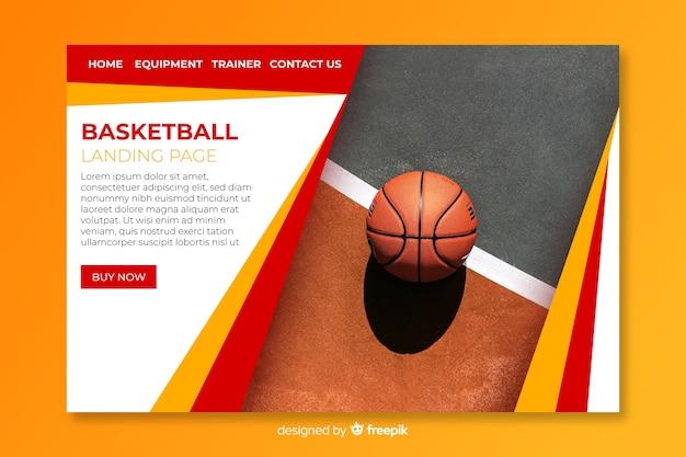 Szablon strony docelowej sport ze zdjęciem