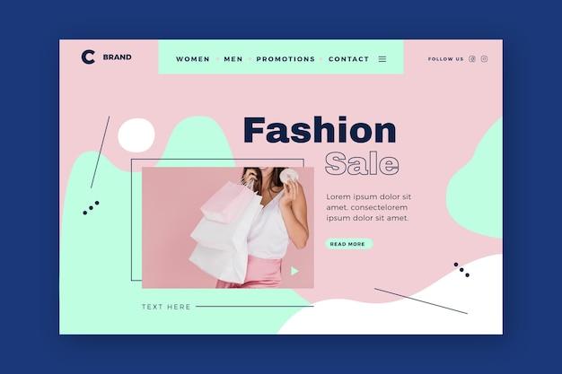 Szablon strony docelowej sprzedaży moda