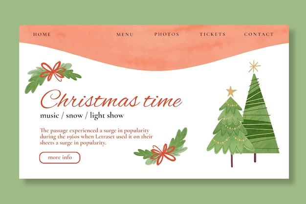 Szablon strony docelowej sprzedaży świątecznej