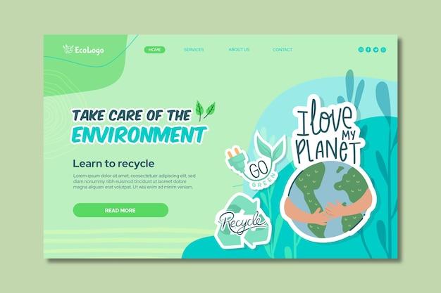 Szablon strony docelowej środowiska