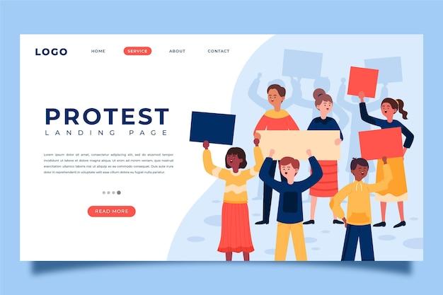 Szablon strony docelowej strajku protestacyjnego