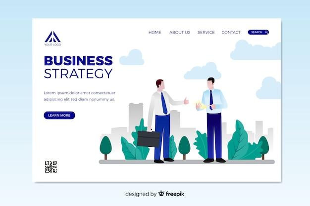 Szablon strony docelowej strategii biznesowej
