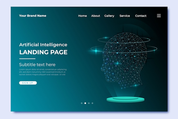 Szablon strony docelowej sztucznej inteligencji