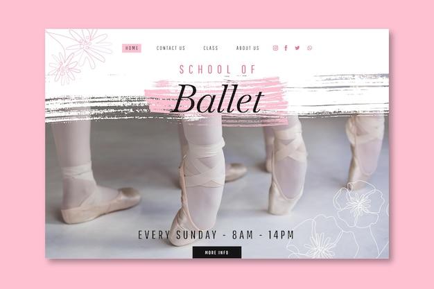 Szablon strony docelowej tańca baletowego