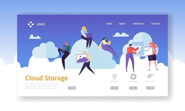 Szablon strony docelowej technologii cloud storage