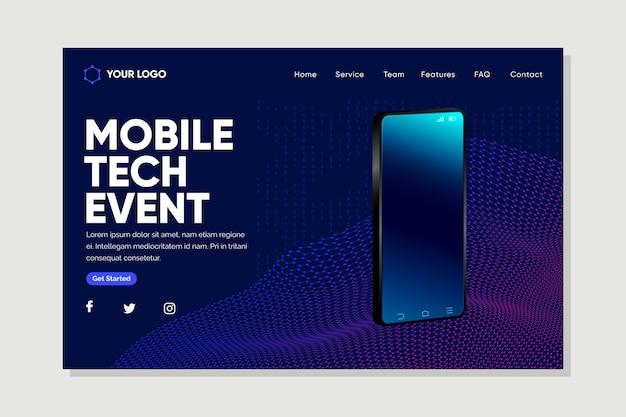 Szablon strony docelowej technologii mobilnej