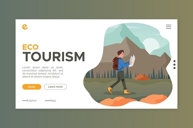Szablon strony docelowej turystyki ekologicznej