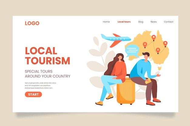 Szablon strony docelowej turystyki lokalnej