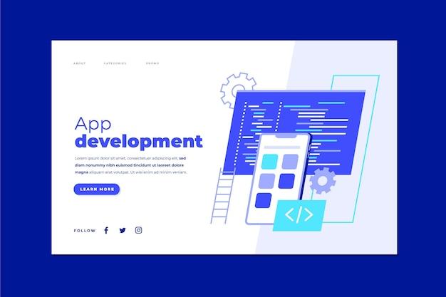 Szablon strony docelowej tworzenia aplikacji